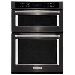 Kitchen Aid Stove Retro Set Kitchenaid Oven Combination With Even Heat Tm Convection 30 Black