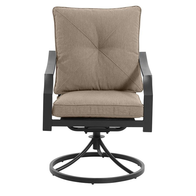styles selections vinehaven swivel patio dining chair 2 pieces brown