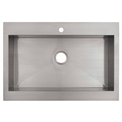 Kohler Kitchen Sink Planning A Island Vault Top Mount Apron Front Stainless Steel Reno Depot