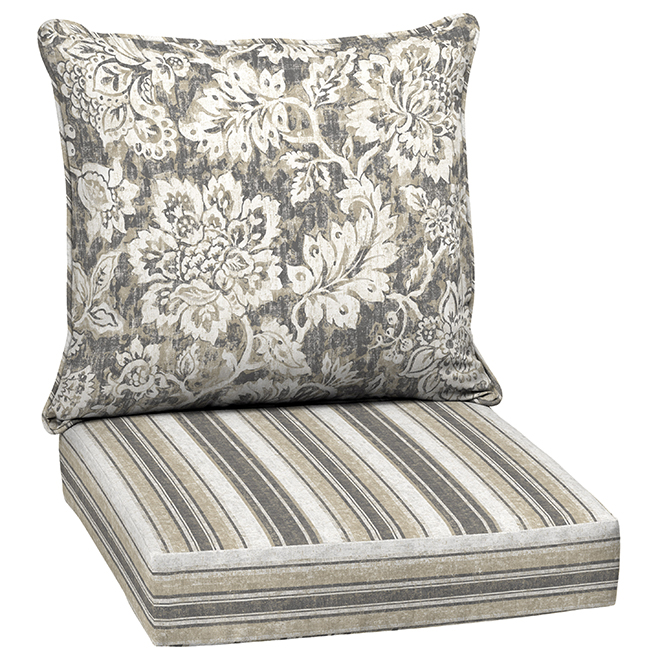 style selections deep seating chair cushion set 46 in x 24 in floral