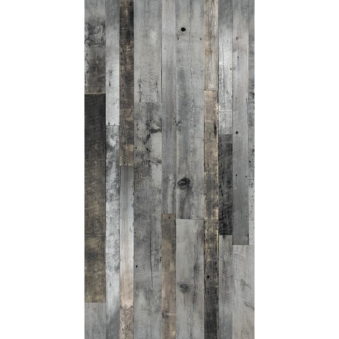MUR DESIGN Revtement mural imitation bois de grange 48