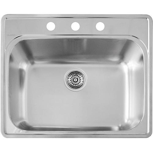 cheap kitchen sinks bar top tables blanco essential single sink 401103 reno depot