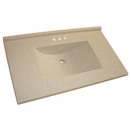 dessus de meuble lavabo 37 x 22 brun granit