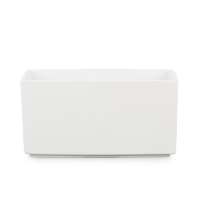 cache pot rectangulaire scheurich ceramique 10 po blanc