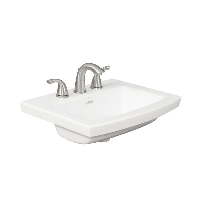 project source cavallie square drop in sink porcelain