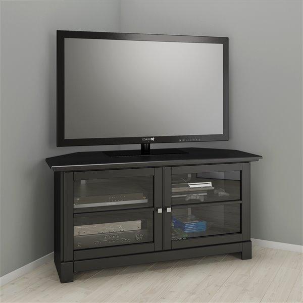 meuble audio video en coin pinnacle 49 noir