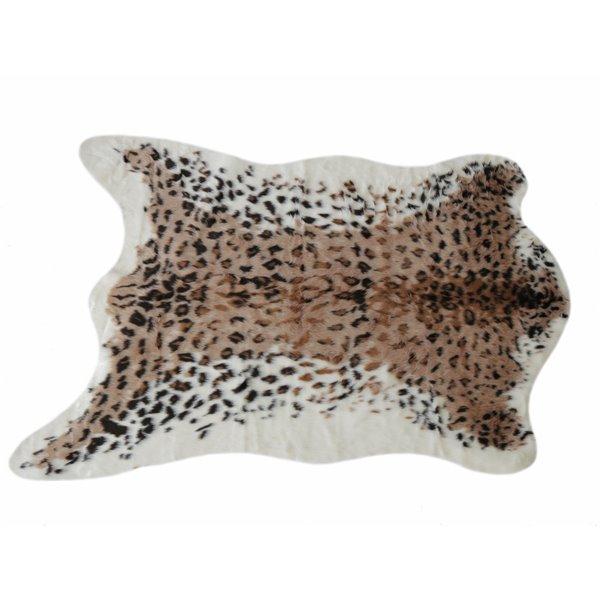 tapis en fausse en peau de vache 4 25 x 5 leopard