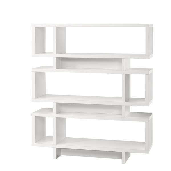 bibliotheque monarch 47 25 x 54 75 bois blanc