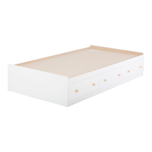 lit matelot avec 3 tiroirs summertime lit simple blanc