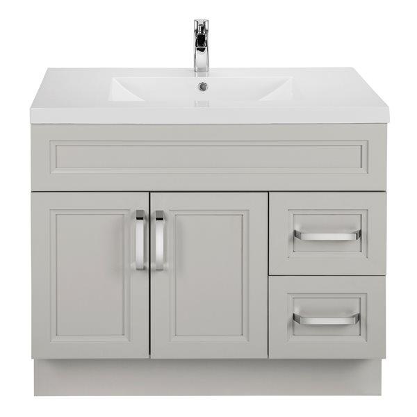 cutler kitchen bath urban bathroom vanity single sink 36 light grey