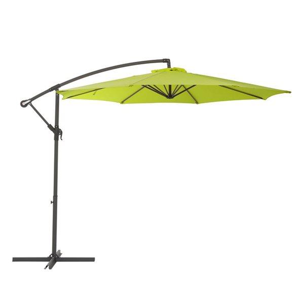 corliving offset patio umbrella lime green