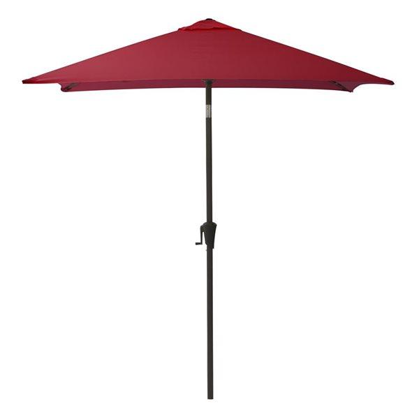 corliving square patio umbrella w e red