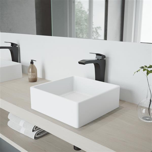 vigo blackstonian vessel bathroom faucet matte black