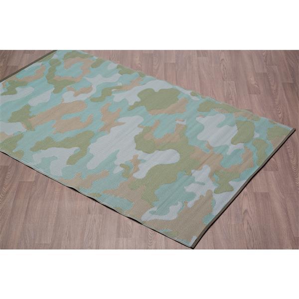 tapis camouflage pour l exterieur en plastique vert 4 x6