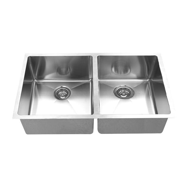 elegant stainless double undermount sink 30 in stainless steel