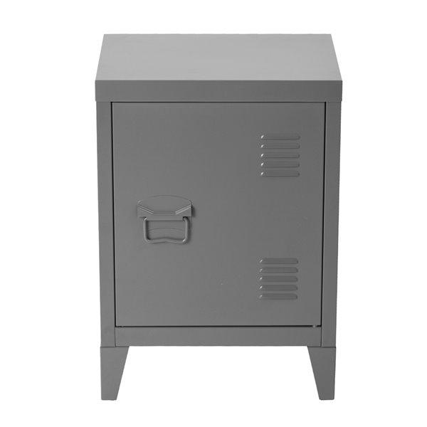 furniturer armoire de rangement en metal table de chevet table de bout 16 po x 12 po 23 po