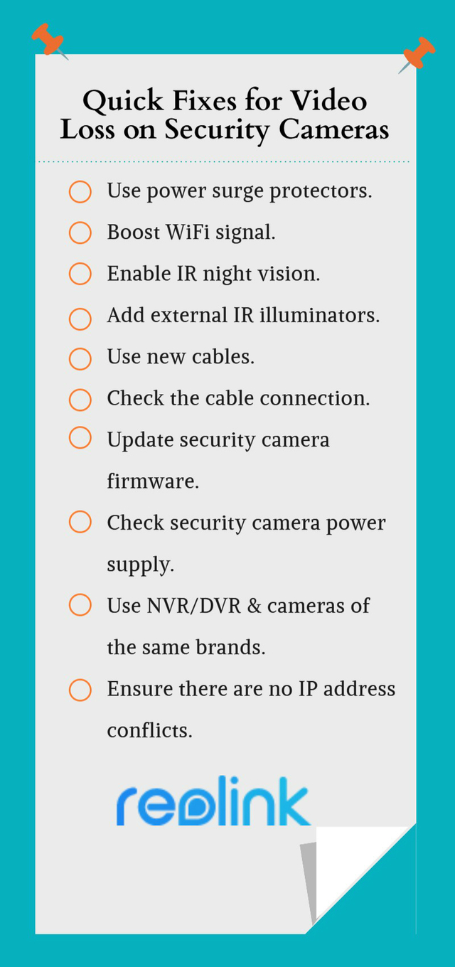 hight resolution of video loss on security cameras reasons and quick fixes