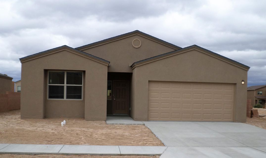 Brand new spec home by Twilight Homes  Located in the heart of Los Lunas, this home offers 3bedroom, 2 full bath, 2 car garage, separated laundry room, covered patio, open kitchen with granite countertops, master suite has walk in closet , double vanity, garden tub and walk in shower. Only 20min from downtown ABQ, this home is close to dining, shopping, movie theater, and much more.