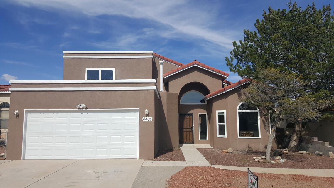 Lovely 2 Story in Taylor Ranch. Fresh New Exterior Paint, Lots of room, over 2100 sq ft.  Cozy fireplace, Laminate wood flooring, New Carpet, Granite countertops in Kitchen and both bathrooms. Large back yard, 2 car garage with plenty of room for cars in driveway. New Windows.