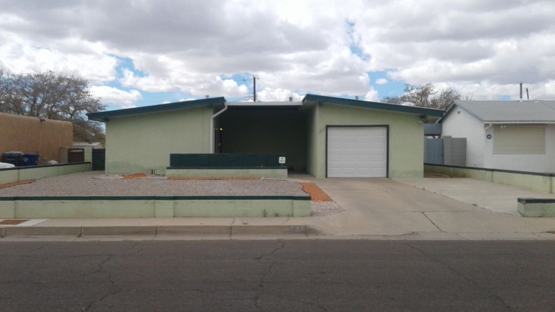 Convenient NE Location South of I-40, in between Eubank & Wyoming! This lovingly kept Home features 1,021 sqft, 3 bedrooms, 1 bath, 1 car garage is ready for you! Updated windows, kitchen cabinets, flooring, metal roof, security system, Wall Heaters & Evap Cooling. Home is being Sold as a Short Sale and Sale is Subject to Lender's Approval. Please make appointment for showings.