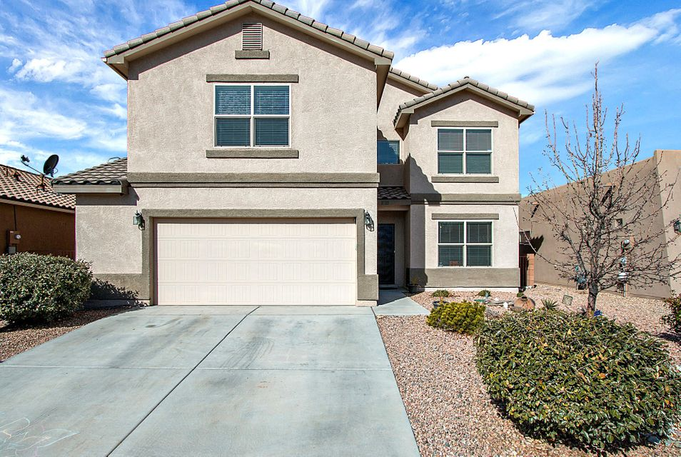 Ask about the School District Transfer to Rio Rancho Public Schools! Centrally located, minutes from Rio Rancho, this stunning DR Horton popular ''Sacramento'' Floor Plan offers views of the Sandia Mountains from all over the 2nd Floor. 2 Living Spaces, plus a loft! Huge Master Bedroom, Security (plus Cameras) Alarm System, Fully Landscaped - Welcome Home, this one is move in ready! Peace of mind, this home is still under the builder's warranty!
