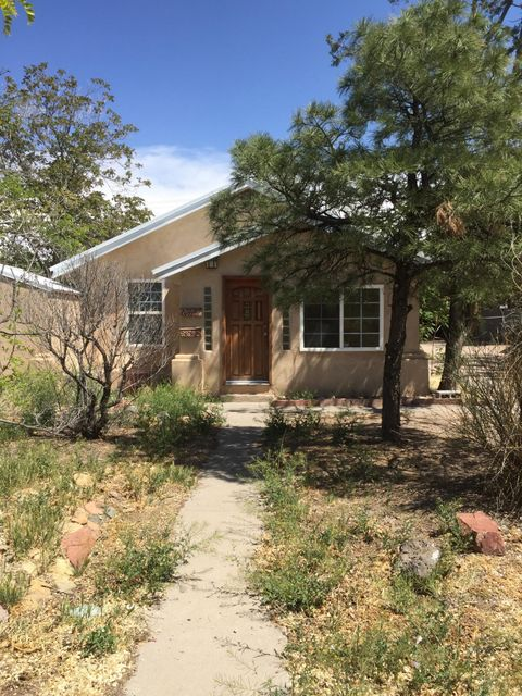 This is a great UNM location Bungalow Style home (main house) and an additional rental [currently rented for $520.00/mo.]  House has 2BR, possible 3rd or additional living area.  You will not be disappointed.  Do not miss this opportunity for your UNM investor!