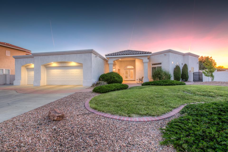 This gorgeous home sits on an oversized lot in the Estates at High Resort.  It boasts a lovely front yard, custom double front doors, radiant heat, large living area with vaulted ceilings, fireplace, 4 bedrooms, and a bonus room that would be great as a game room or workout room.  In the kitchen, you will enjoy granite counter tops, an island with seating, and lots of cabinet space. The master bedroom has new wood tile flooring and is open to the bathroom area with a double sided fireplace, and seperate jetted tub and shower. The backyard on this house is incredible!  There is a beautiful salt water pool with a colored accent light, grass area, and a custom basketball court.  The house also backs to a park area allowing for beautiful sunsets.  This is truly an amazing home!