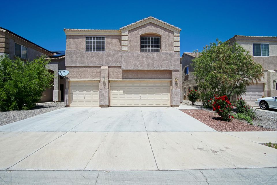 OPEN HOUSE this Saturday, May 20th frm 11am-1pm! Conveniently located in the Volcano Vista High School district, this lovely Trails home features over 2,900 square feet of living space, 2 dining spaces, 5 bedrooms including the loft, 3 full and one 3/4 bathrooms, a 3 car garage, granite counters and extra large kitchen pantry and low maintenance back yard.  Tons of storage and extra large laundry room located upstairs for easy access. Separated 5th bedroom along with 3/4 bath located downstairs would be perfect for an older child, mother-in-law suite or quiet office space. Walking distance to the high, middle and elementary schools as well as park and dog park. All appliances convey! Come by and see this great family home before it is gone.