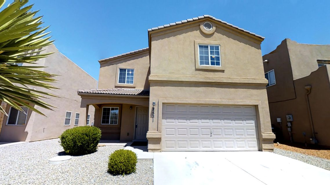 Don't miss the virtual tour.  Charming, spacious, four bedroom, two & one half bath house in a great location.  Close to Old Town.  Easy I-40 access.  Three of the bedrooms have large, easy access closets.  Additional storage in loft area.  New carpet.  Back yard recently xeriscaped.  Brick planters and cement pad features add looks and functionality.  Refrigerated air.