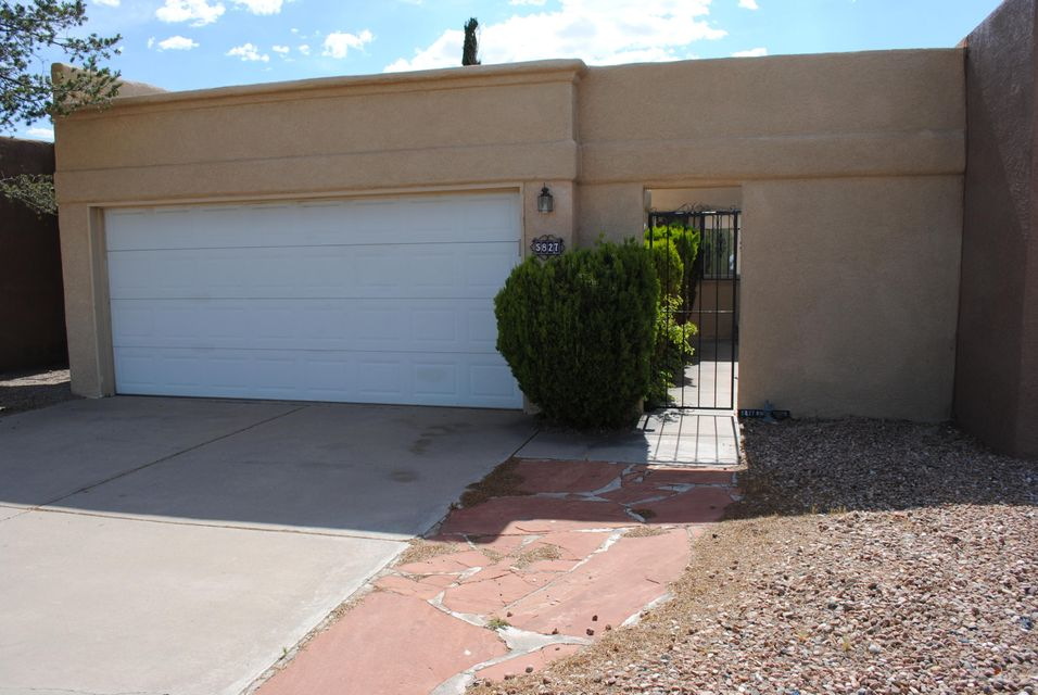 Great townhome with no association fees. Private courtyard leads to efficient floorplan. Well cared for home with updated windows, 4 year old roof. Refrigerated air. Nice master bedroom with 2 closets, 2nd bedroom has generous closet space, too. Covered patio along with open paver patio. Refrigerator, washer and dryer will convey. Come by and take a look.