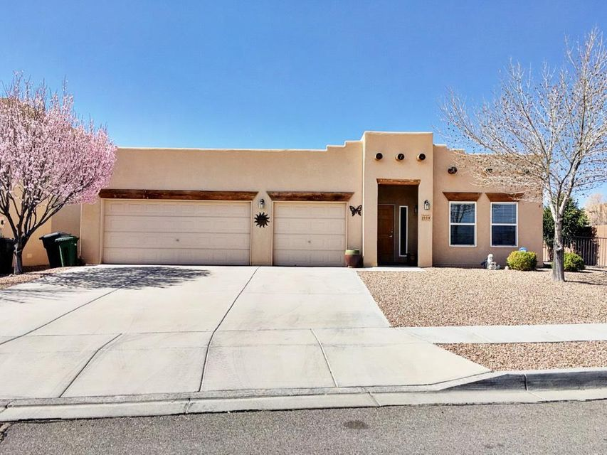 Pride In Ownership And Southwest Charm Throughout This Split Open Floor Plan With 3 Bedrooms, PLUS An Office, 2 Full Baths, Large Formal Dining Room, And 3 Car Garage. Kitchen Designed With Wrap Around Counters, 2 Pantries, 2 Built In Stacked Ovens, And Raised Eat In Bar Area. Main Living Space Ordained With Tongue And Grove Ceilings, Vigas, And A Gas Kiva Fireplace. Large Master Bedroom Dimensions Equipped With A Large Walk In Closet. Master Bath Includes Large Jetted Garden Tub, Separated Roomy Shower, And 2 Separate Vanities. Backyard Offers Custom Low Maintenance Landscaping, Raised Walls, 2 Fountains, Rose Bushes And Fruit Trees To Create The Perfect Private Garden Oasis. A Must See Treasure In Quiet Cabezon Neighborhood Minutes From Rust Medical Center And The Popular A Park Above!!!