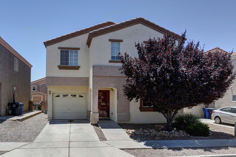 Conveniently located to Sandia labs and Kirtland AFB This property has 5 bedrooms and 4 full baths (2 master bedrooms) Open floor plan landscaped front and back refrigerated air in a gated community
