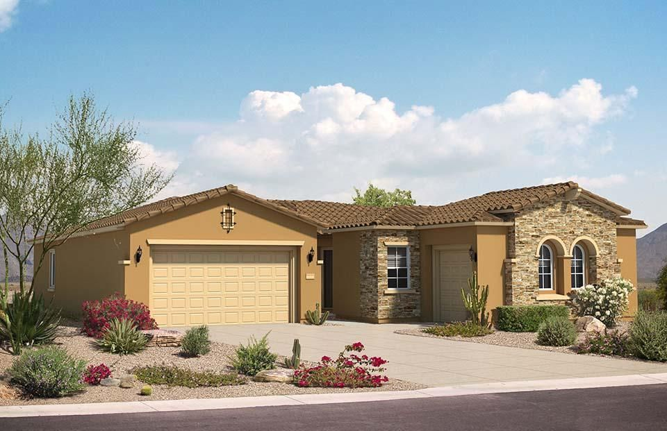 Brand new home is under construction and one of the few remaining in Loma Colorado. This energy efficient home has brand new appliances, flooring, roof, windows, tankless hot water heater, A/C and more! The very popular Pulte Homes Cottonwood floorplan sits on a Corner lot in the gated Tres Colinas Community with parks, trails, great schools and more. Enter through the welcoming courtyard and enter the main house or the guest suite with separate entrance. This open floorplan also offers designer coffered ceilings in the foyer, gathering room and owner's suite. The kitchen is complete with dark Birch cabinets, granite countertops and built-in stainless steel appliances. Fit all your toys in the oversized garage. Home will be complete July 2017.