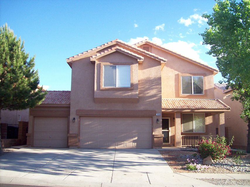 This is a Single-Family Home located at 7404 Desert Eagle Road Northeast, Albuquerque, NM 87113 has 4 beds, 2 1/2 baths, new granite in kitchen, 3 car Garage, and 2,660 square feet of living space in the North Star, Desert Ridge, and La Cueva High School district! Lot size of 5,293 square feet and was built in 2004. There is refrigerated air, built-in alarm system, and two living areas! Enjoy the family room with gas log fire place. Nice backyard, great for entertaining and BBQ's. You will love the large bedrooms and huge walk-in closets! Upstairs balcony offers views of the Sandia Mountains and the city - you can watch the Balloon Fiesta fireworks! The close proximity to shopping and schools makes this a superb location.