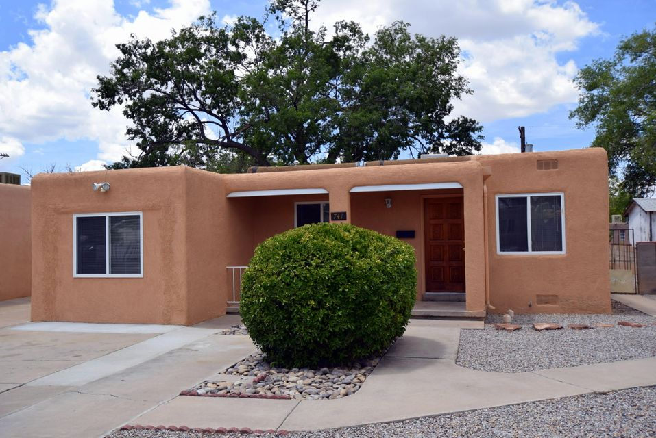 This is a very cute home that is in Move-In ready condition.  Lots to offer and easy access to all that Albuquerque has to offer including Kirtland AFB,Sandia Labs, and the Albuquerque Sunport. This home features two Living Areas, an Eat in Kitchen,& Three Bedrooms. There is an enclosed Sunroom for which makes for another nice Living space as it is located just off the back Living Area. This Open Patio would be a super outdoor space with a little tlc.