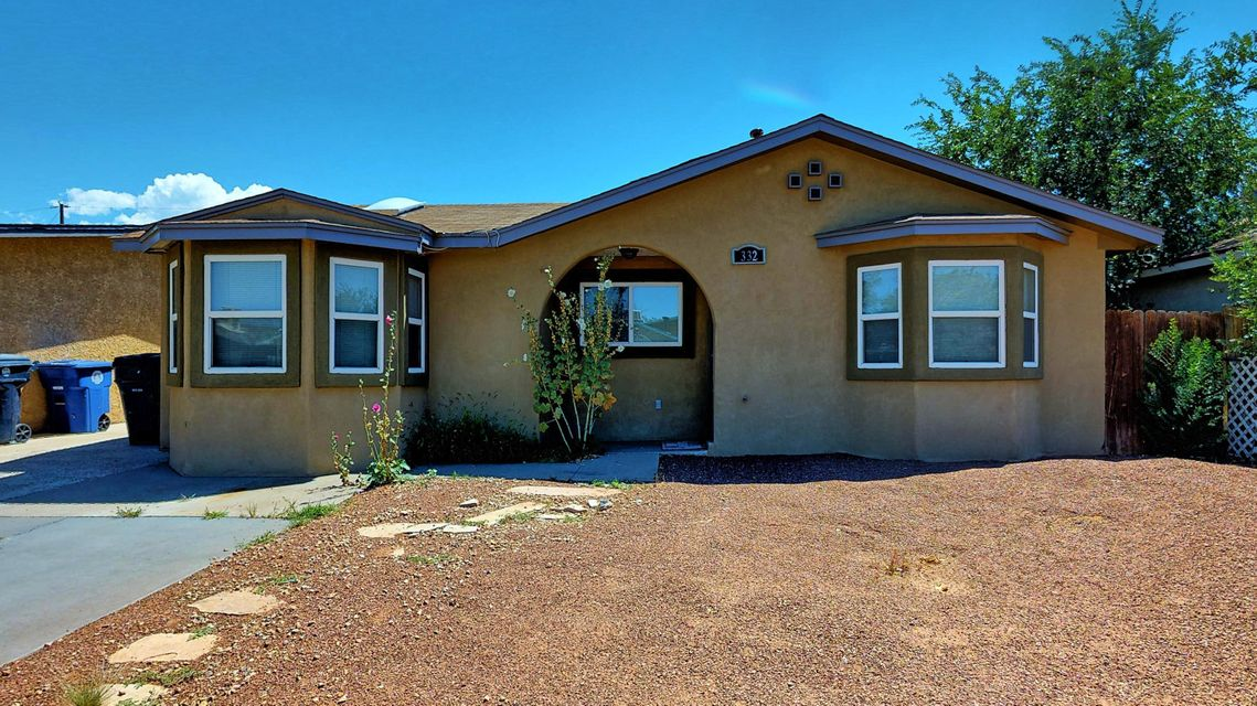 Welcome to this NE Heights compound. 2 bed (possible 3) 1 bath main house with separate 1 bed 1 bath guest house and workshop. The main house has a great open layout with 2 living areas and massive master suite. The backyard casita has its own living area and kitchen, plus a separate bedroom and laundry room. Relax in the tranquil backyard with fruit trees, grape arbor and koi pond. Lots of updates, see it to appreciate it.
