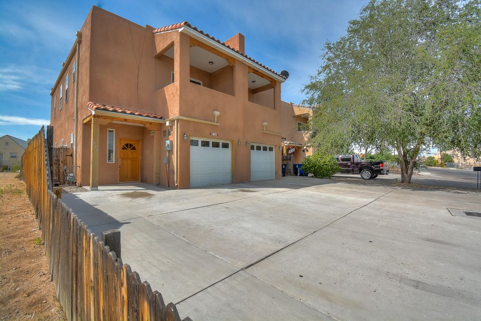 Exquiste Southwest style townhome located within walking distance to Old Town! Home features 1,545 sf with 3 bedrooms and 2 full bathrooms. Cozy living area with custom Kiva fireplace. Spaciously designed kitchen with ample cabinet space, granite countertops, tile backsplash, double oven and a high top bar with seating area. Master suite with private balcony and bath! Upgraded guest bath with granite countertop, vessel sinks and a shower/tub combo with tile surround. Fully fenced and landscaped backyard with covered patio. Easy access to bike trails, restaurant and shopping!