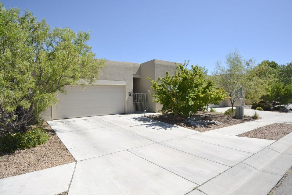 Original Owner-Beautifully Maintained-Welcome to this Incredible single-story pueblo home with attached casita in the highly sought-after Community of Las Casitas Del Rio subdivision-Walk out your door to the Bosque Trails.This Home showcases an open concept floorplan featuring cozy great room w/Kiva fireplace & clerestory windows to soak in natural light,gorgeous Bamboo flooring & tastful architectural accents like nichos,raised ceilings w/recess lighting & custom windows. Kitchen overlooks great room while delivering plenty of cabinet & counter space.Main house delivers 2 BDRMS+OFC/Sitting rm & 2 FULL baths&Casita offers open-living/BDRM space w/FULL bath. Relish entire bkyd creating a serene environment while enjoying your open patios-True extension of outdoor living-Excellent location!