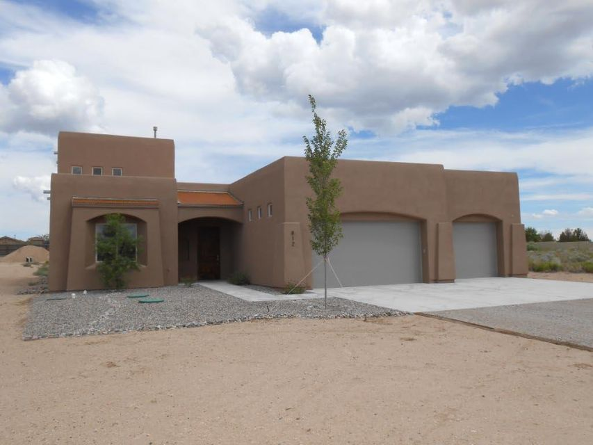 New Custom Home. Green build techniques, energy efficient. Mountain views. Elegant stained concrete floors. Custom cabinets, granite counter tops, large covered patio, large master closet, soaking tub. Tankless hot water heater.