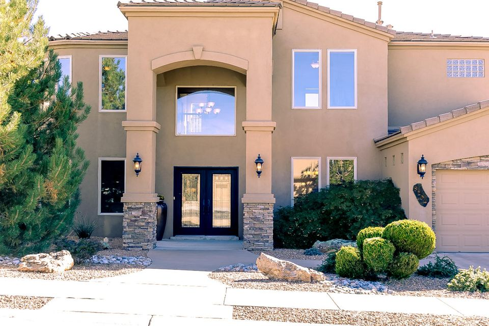 Custom home in highly desired Quivera Estates gated community. This home is LOADED with upscale features and offers an open/versatile floor plan. Three master bedrooms and a possible main floor 5th bedroom with existing 3/4 bathroom. Two laundry facilities allows the main floor area to be used as an office/hobby room/butler pantry/pet area with access to the backyard. 990 square foot garage is fully insulated and has a workshop area and storage closet. Private backyard with room for future pool, hot tub, play structure, etc. Home shows GREAT! Owner may consider trade option for smaller home.