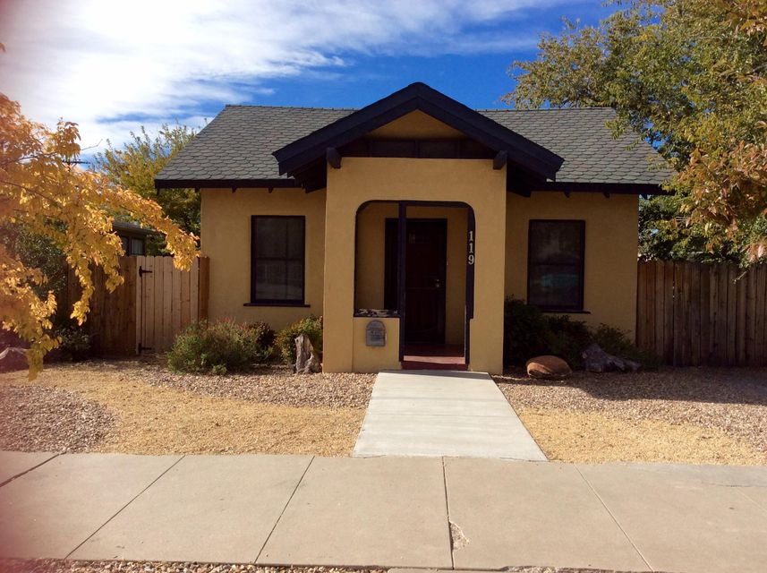 This Huning Highland Charmer has had a Complete Remodel! Everything is newer in this 1950sqft 3bd/2.5ba beauty w Vaulted Ceilings~Pella Windows~Refrigerated Air~New Electric & Plumbing~Gourmet Kit w Hickory Cabinets~Stainless Appliances~Pantry~Wet Bar! Master Suite has Jetted Tub~Travertine~Dbl Sinks~Walkin Closet! In EDO and in the Huning Highlands Historic Disctrict, Close to Downtown~Hospitals~UNM! A Perfect home for those seeking an Urban Lifestyle w/ Charm & Character! Historic Home under HHHDA Sector Plan is Zoned SU-2 R/O for Live/Work. Only 1/2 block off of Central Ave, your home business awaits you.