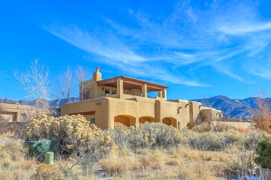 Foothills West Highlands at High Desert Custom by Sunn Quality on a 54 acre Panoramic, Unobstructed View Lot w custom L/S by Judith Phillips; Forever Views mountains,sunset & city lights! Almost 1 level All Main floor except 1 Dramatic upper guest br/with access to expansive view deck. Upscale thru-out w/4 spacious bedrooms 4 baths;.Sumptuous/private Master bedroom & luxury bath, with a sep sitting room.  formal dining room also used as library , magnificent greatroom w/custom fireplace & Views! Master Chef's gourmet kitchen w/upscale appliances, e.g. Wolf, Sub-Zero, Jenn-Air, Granite  counters & Alder wood cabinetry,3 car[999] SF garage, indoor entertainers hacienda atrium w/ fireplace; manicured exterior. In floor radiant heat & refrig cooling. Artisan Fixtures. Upscale Lighting.