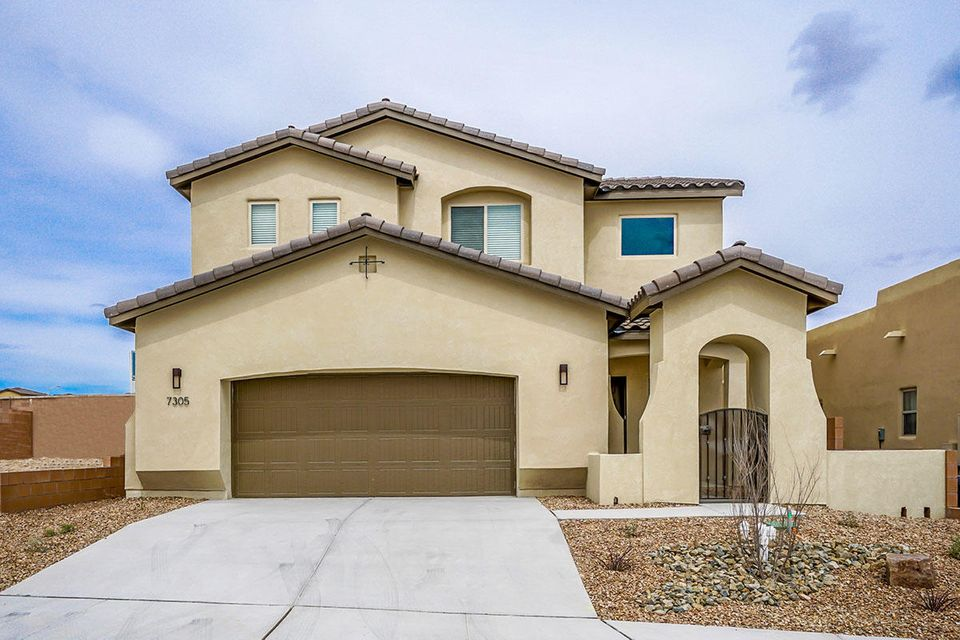 The Brand New Rosa by Abrazo Homes is ready for occupancy. Located in Valle Vista At the Trails, a gated community. This gorgeous home has 3 beds plus loft all on upper level with spacious kitchen and great room downstairs.  The inviting foyer has a 2 story entry that will meets the stairwell on the front. Many upgrades include tile floors, solid granite in kitchen and baths, maple cabinetry  in linen, all appliances and window coverings.  Smart Home technology package (manage thermostats, front door and lighting from anywhere in the world).