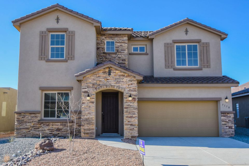 **Reduced $10,000..ask about builder incentives***Stunning Tuscan style Hakes Brothers home located in the Lomas Encantadas neighborhood! Open floorplan featuring 3,195 sf with 4 bedrooms, 2.5 baths rooms, a loft and office/flex room. Gourmet kitchen with upgraded cabinetry, quartz countertops, built-in oven/microwave, gas cooktop, range hood and a large center island with seating area. Spacious living area open to the kitchen. First floor master suite with spa like bath. Bath hosts a large garden tub, walk-in shower with tile surround, dual sinks and a walk-in closet. Upstairs take advantage of the huge loft perfect for a second living area or home gym! 3 upstairs guest rooms! Come see what Hakes Brothers has to offer you!