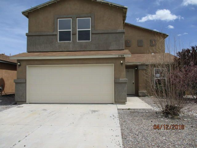 HUGE 4 Bed, 2.5 Bath home in well-established Rio Rancho neighborhood near main roads, schools and shopping. Home has spacious bonus room upstairs & lots of backyard-This is your blank canvas! Seller does not pay customary closing costs: including title policy, escrow fees, survey or transfer fees. Must see for yourself to see the potential!