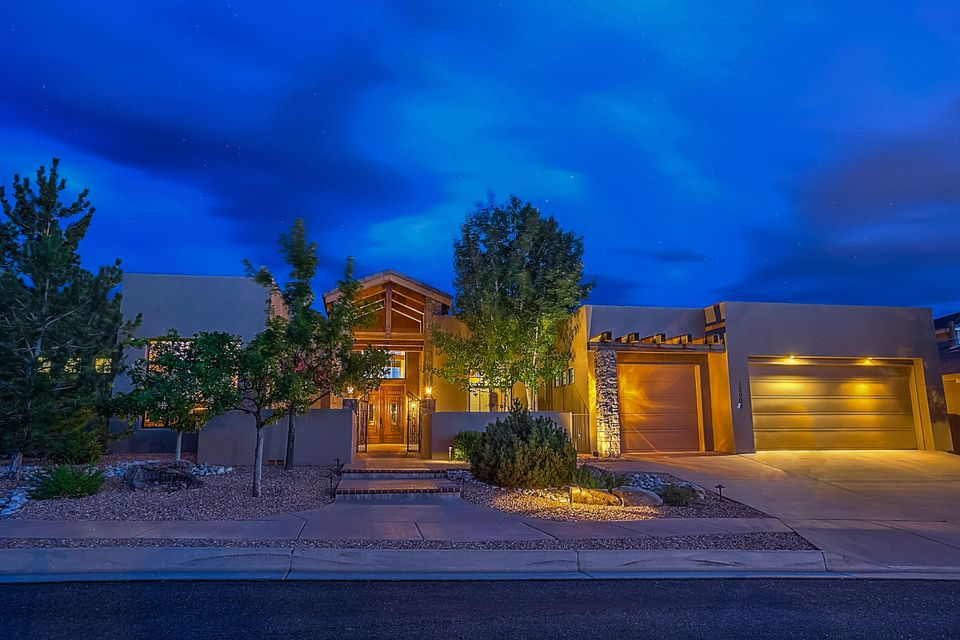 Custom Rutledge in the gated community of ''The Canyons'' as a part of the highly sought area of High Desert. Stunning Exposed Mountain Home Beams greet you as you enter this Custom Estate. Kitchen and living room feature custom Halbert cabinets with commercial Wolf & Sub Zero appliances including refrigerator, granite countertops, island with sitting area and walk-in pantry. Study with elegant woodwork and shelving for a wonderful work experience. Master Bedroom features sitting room, fireplace, walk-in closet with built-in custom cabinets and double sinks, separated shower and relaxing jetted tub. Home also features, refrigerated a/c, 3 gas fireplaces, radiant in-floor heating, 12' high ceilings with large beams, and an over-sized 3 car garage with workstation, storage and finished.