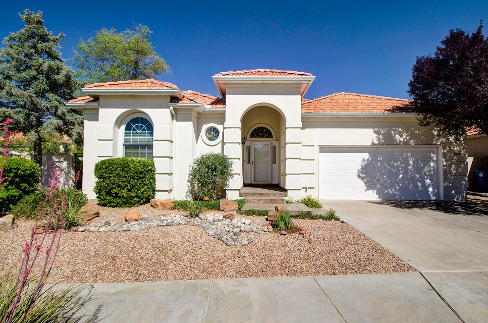 This beautiful home in the highly sought after Antelope Run neighborhood boasts a tile roof and a grand arched entry into the home. It has high ceilings with an open floor plan into the family room and kitchen. It has oak wood floors and tile in the wet areas. The master suite is spacious with a large walk in closet that provides privacy away from the other bedrooms. The master bathroom has a separate shower and garden tub with double sinks. The back yard has an enclosed wall with lovely landscaping to escape into a tranquil haven. Have a BBQ, morning coffee or read a book on your patio. This is truly a fine home.