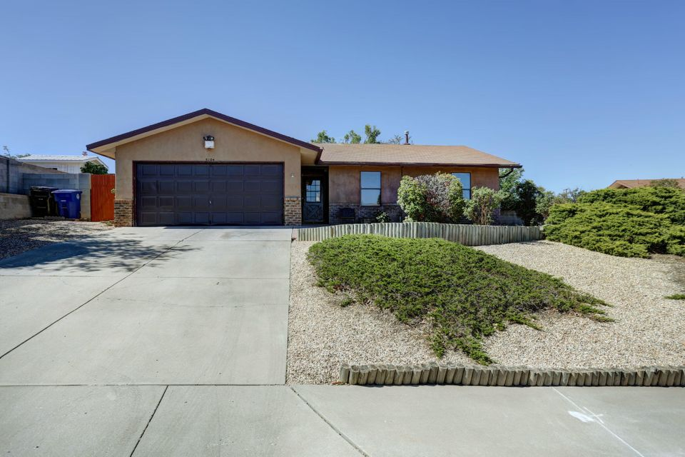 OPEN HOUSE SATURDAY OCTOBER 20 FROM 12:00-2:00 PM!!! Welcome to the highly desirable wildflower neighborhood. This single story gem is in a prime location! Located in the La Cueva High School district. Let the beautiful wood flooring guide you through the home. With vaulted ceilings, every room in the house is very spacious. Boasting updated bathrooms, refrigerated air, and an amazing backyard with views of the balloon park! Come quick, this home will not last long!