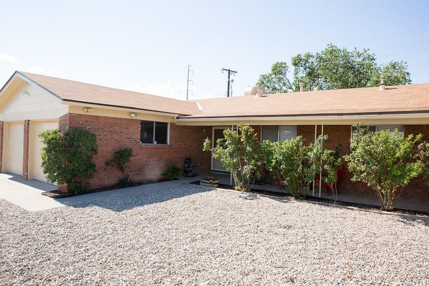 Total remodel! Open floor plan, new bathrooms, new hot water heater. Hall Bath has double sinks. Master has glass barn shower door, top of the line remodel. Laminate, tile and carpet. Convenient location. 2+living rooms, eat in kitchen plus bar for stools  Open kitchen to den. Covered patio, new grass and backyard access complete this wonderful welcoming home.  Don't let it slip away! FP non operating. Water fountain does not convey.