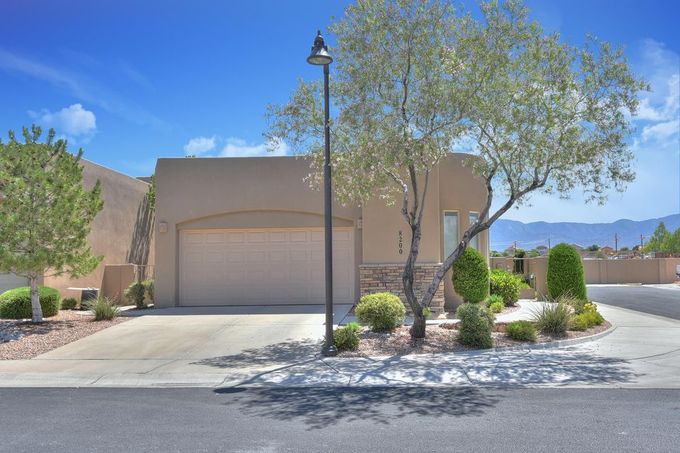 Single story home on a corner lot in a quiet, sought after gated community!  Tile floors throughout, granite counter tops, high beamed ceilings, mountain views, new refrigerated air, and much more!  Landscaping in both the front and back is low maintenance, but tastefully done. Come see for yourself!